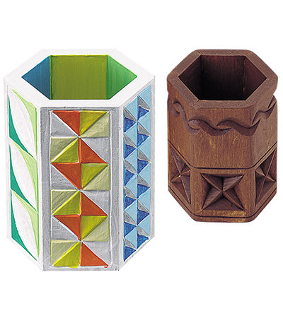 木彫スタンド(六角形)